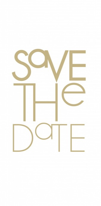 Save the date / 10x21 enkel voor