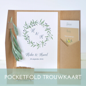 pocketfold trouwkaart