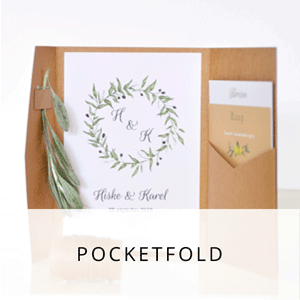 pocketfold trouwkaarten